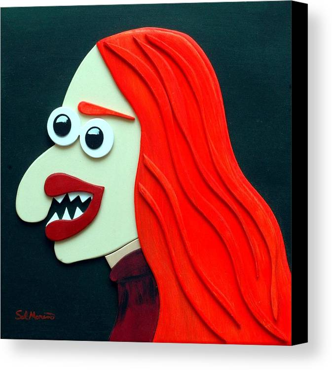 Funism Canvas Print featuring the sculpture Redhead by Sal Marino