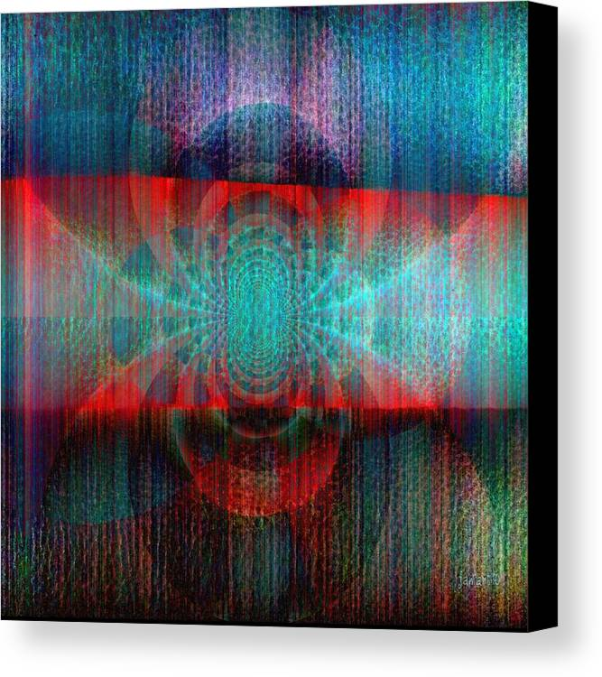 Fania Simon Canvas Print featuring the mixed media Rethink Colors And Creation by Fania Simon