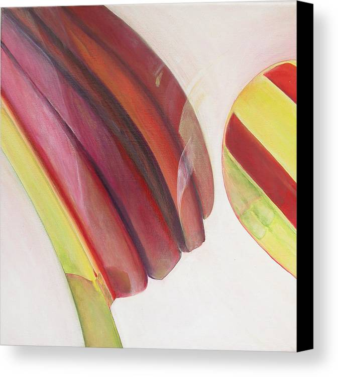 Abstract Canvas Print featuring the painting Sens 3 by Muriel Dolemieux