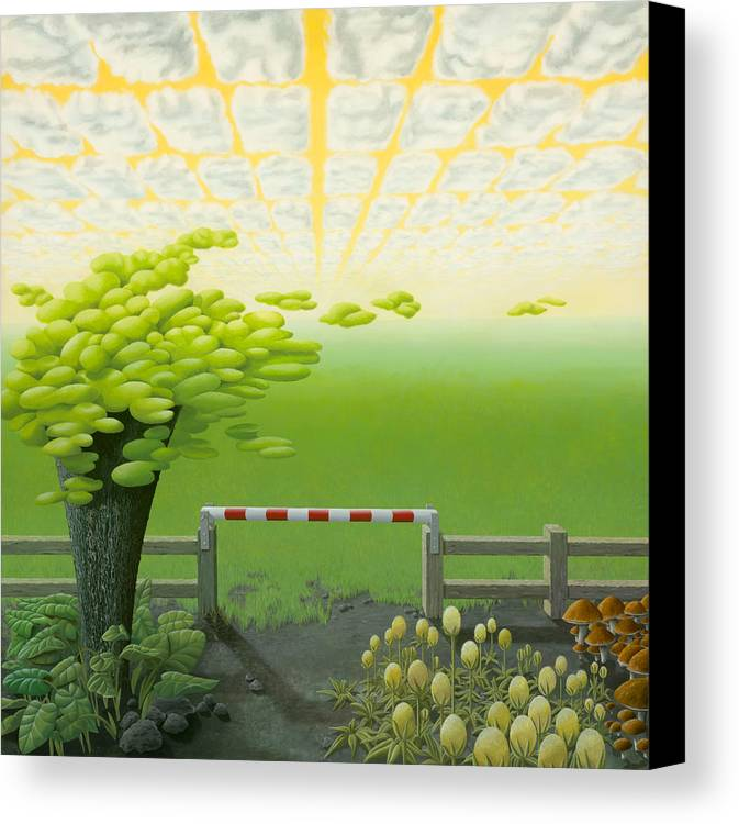 Tree Canvas Print featuring the painting September by Patricia Van Lubeck