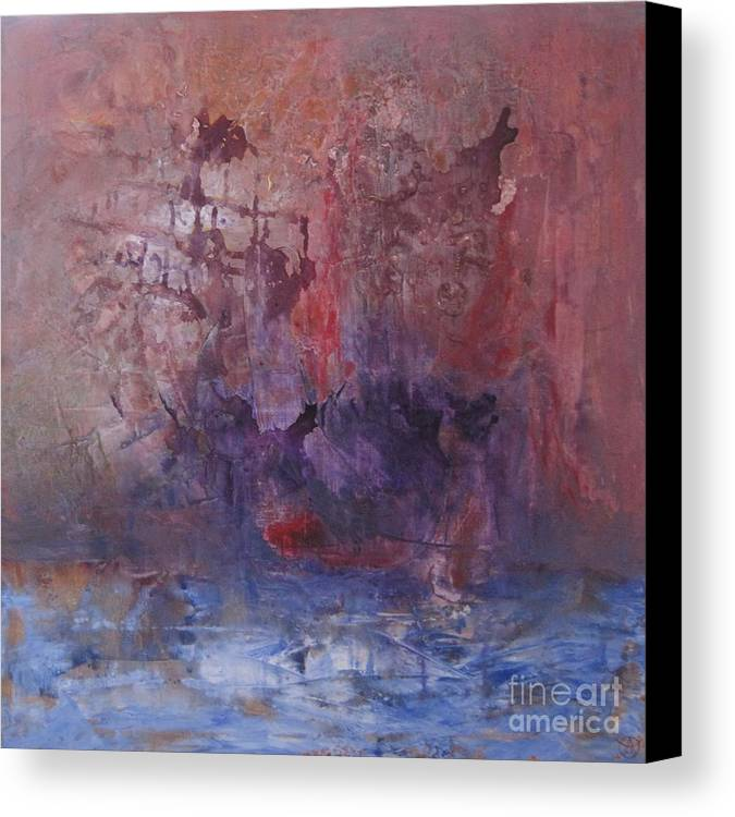 Abstract Canvas Print featuring the painting Ship by Agneta Holmqvist