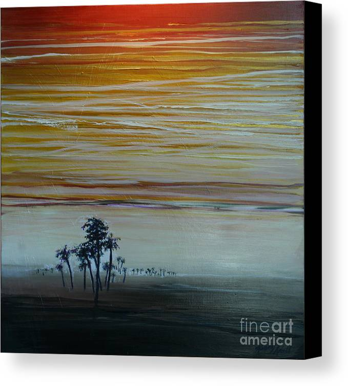 Palms Canvas Print featuring the painting Smooth Jazz by Michele Hollister - for Nancy Asbell