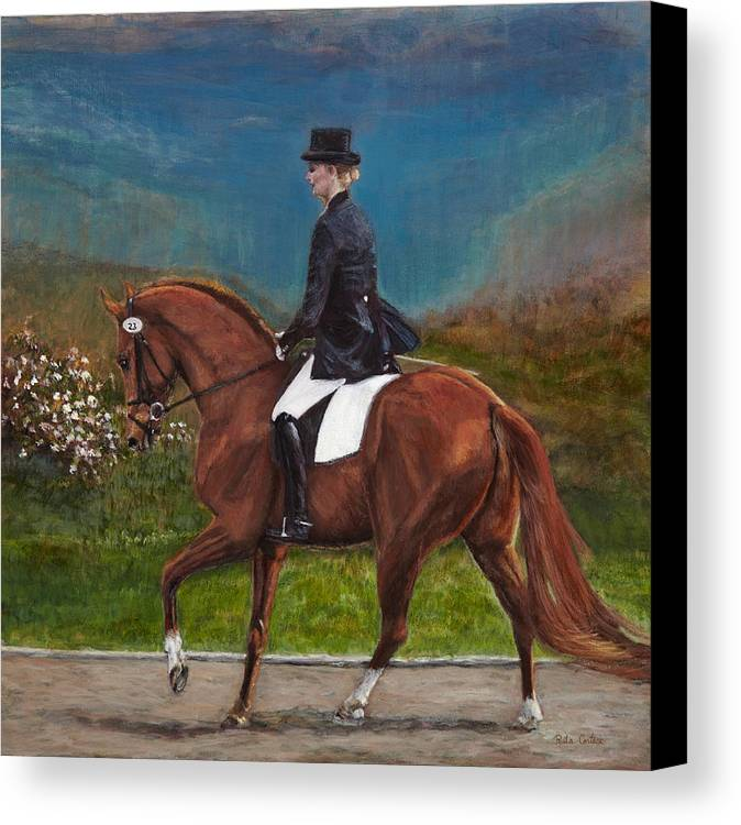 Horse Painting Canvas Print featuring the painting Song Of The Hills by Rita Cortesi