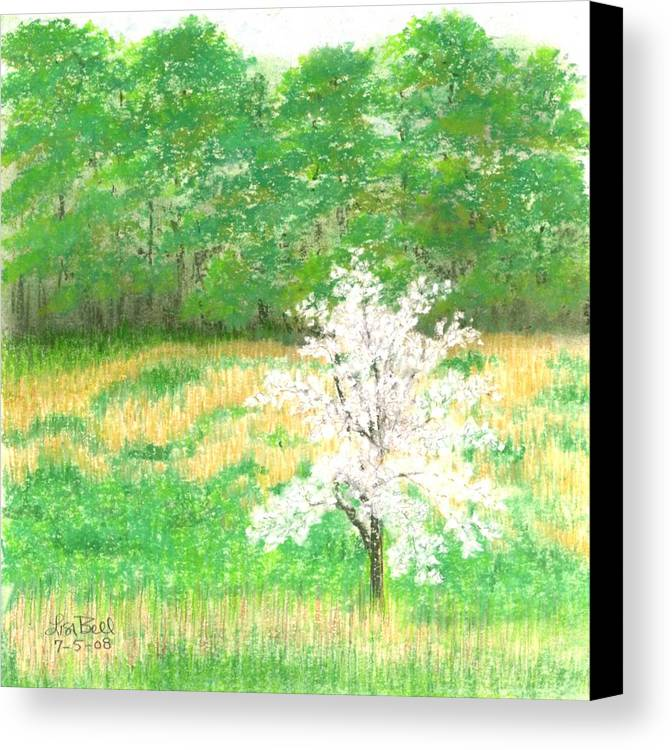 Landscape Canvas Print featuring the painting Studio Windows-7-5-08-dogwood by Lisa Bell