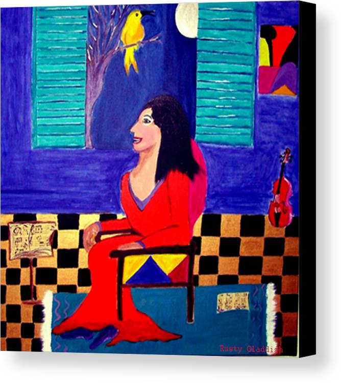 Fauvism Canvas Print featuring the painting The Witch's Duet by Rusty Gladdish
