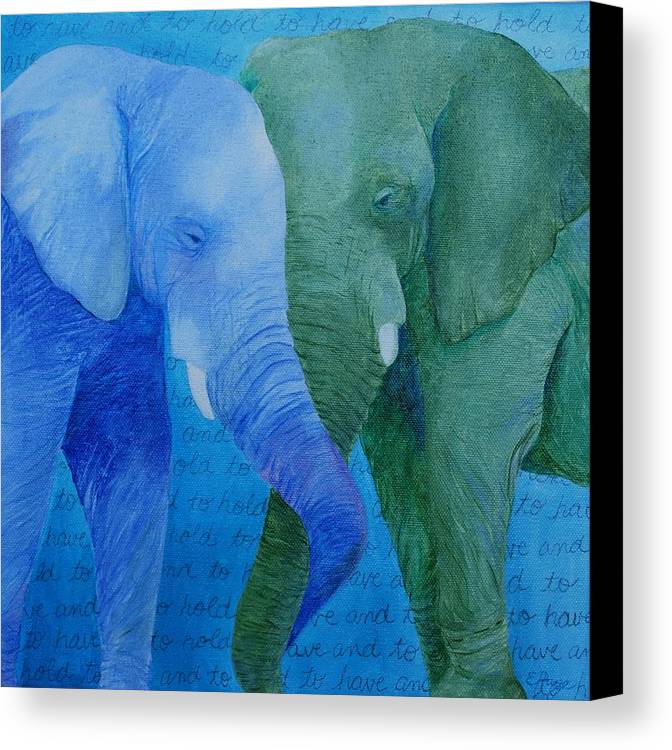 To Have And To Hold Canvas Print featuring the painting To Have And To Hold by Emily Page
