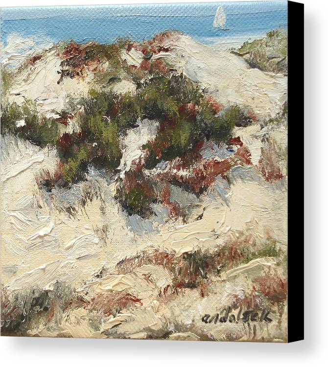 Water Canvas Print featuring the painting Ventura Dunes I by Barbara Andolsek