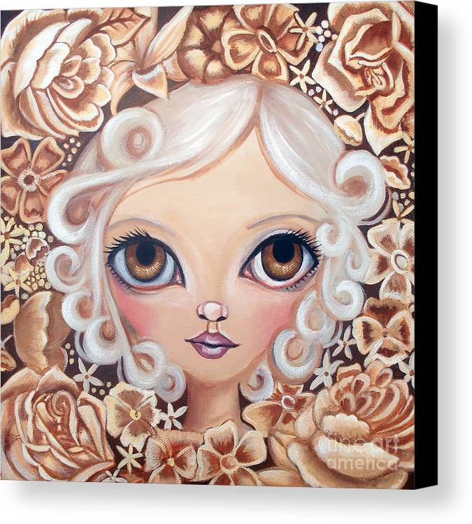 Art Canvas Print featuring the painting Vintage Blooms by Jaz Higgins
