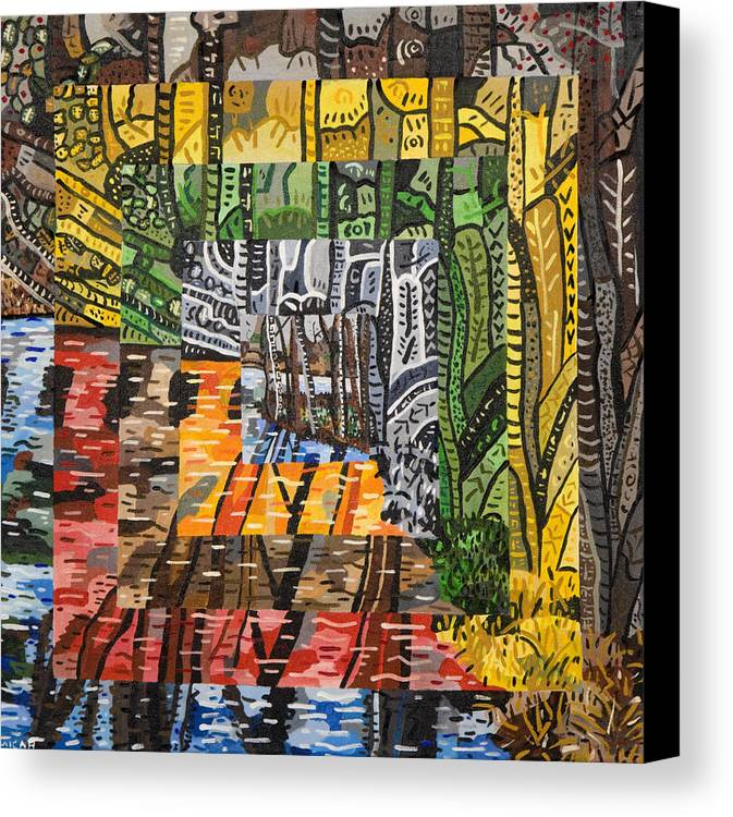 Acrylic Canvas Print featuring the painting Willow Lake by Micah Mullen