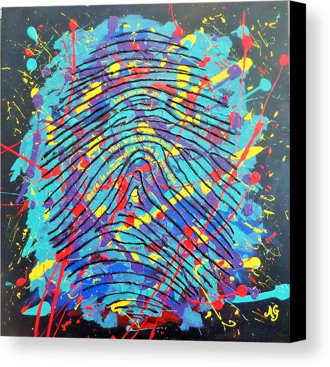Abstract Canvas Print featuring the painting Youer Than You by Anne Gardner