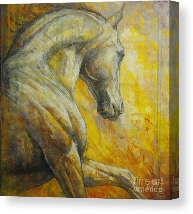 4183cb108db Horse Canvas Print featuring the painting Allegro by Silvana Gabudean Dobre