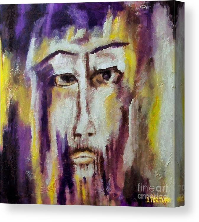Sacred Canvas Print featuring the mixed media Jesus by Dragica Micki Fortuna