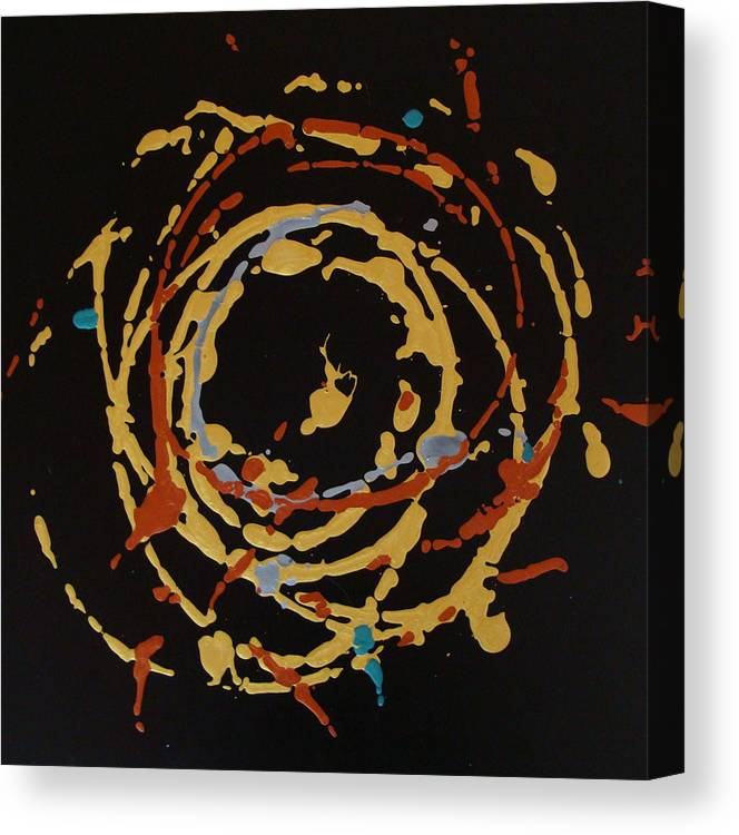 Abstract Canvas Print featuring the painting Solaris by Holly Picano
