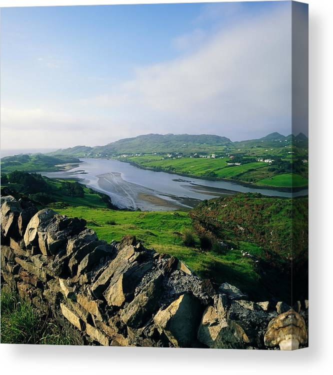 Co Donegal Canvas Print featuring the photograph Killybegs, Co Donegal, Ireland Stone by The Irish Image Collection
