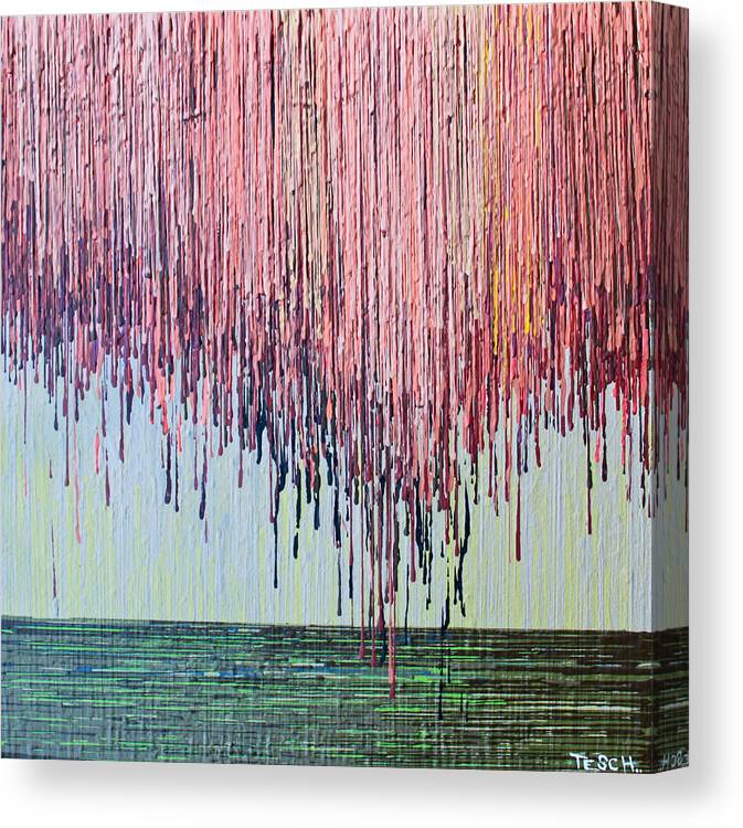 Kate Tesch Canvas Print featuring the painting Willow Tree by Kate Tesch