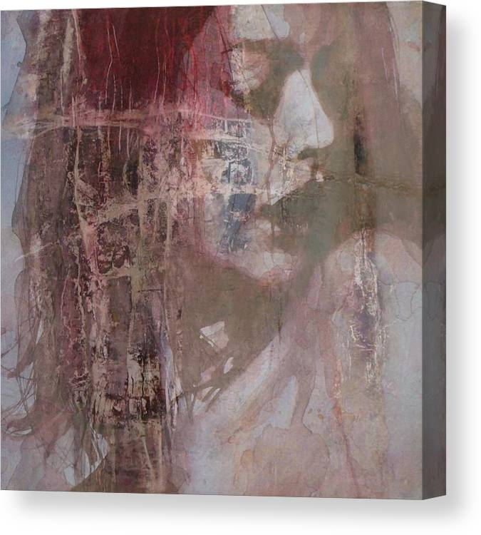 Female Canvas Print featuring the mixed media Fading by Paul Lovering