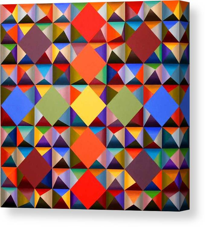 Abstract Canvas Print featuring the painting 361 by Marston A Jaquis