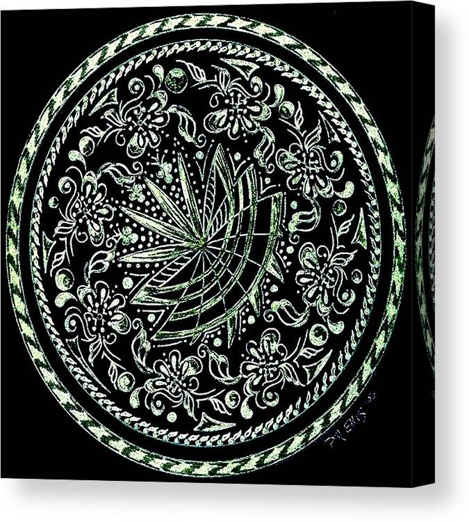 Mandala Canvas Print featuring the painting Beauty In Confusion by Pam Ellis