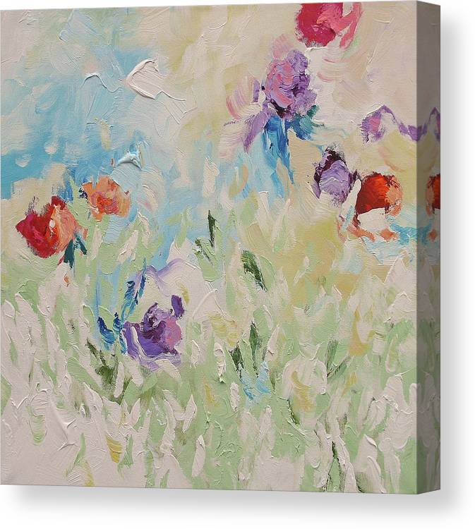 Original Canvas Print featuring the painting Birth Of Spring by Linda Monfort