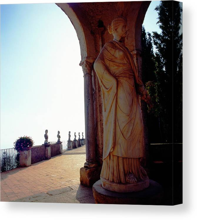 Italy Canvas Print featuring the photograph Bright Light Ravello by Martin Sugg