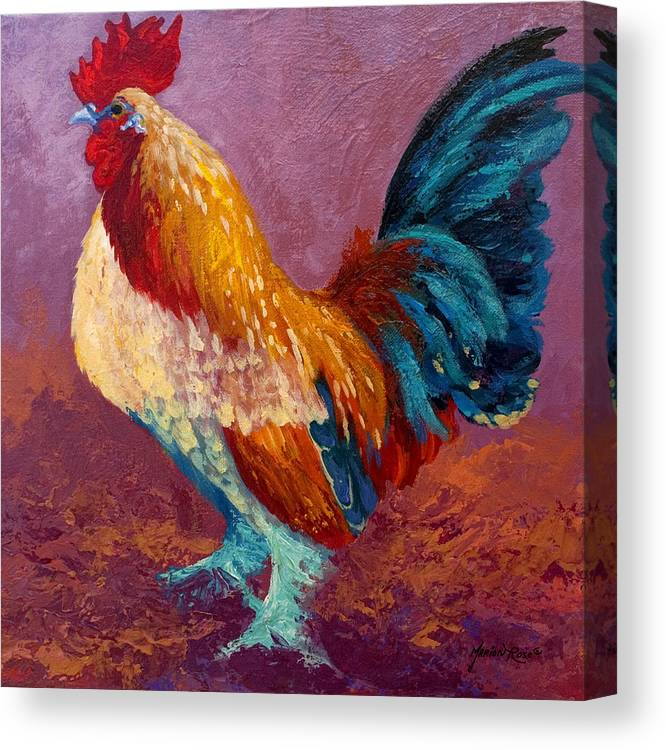Rooster Canvas Print featuring the painting Fancy Pants by Marion Rose