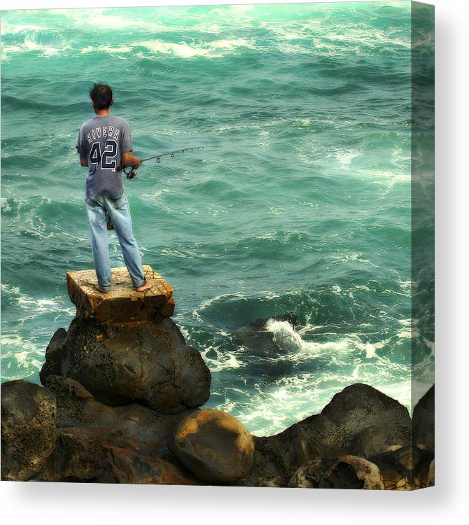 Americana Canvas Print featuring the photograph Fisherman by Marilyn Hunt