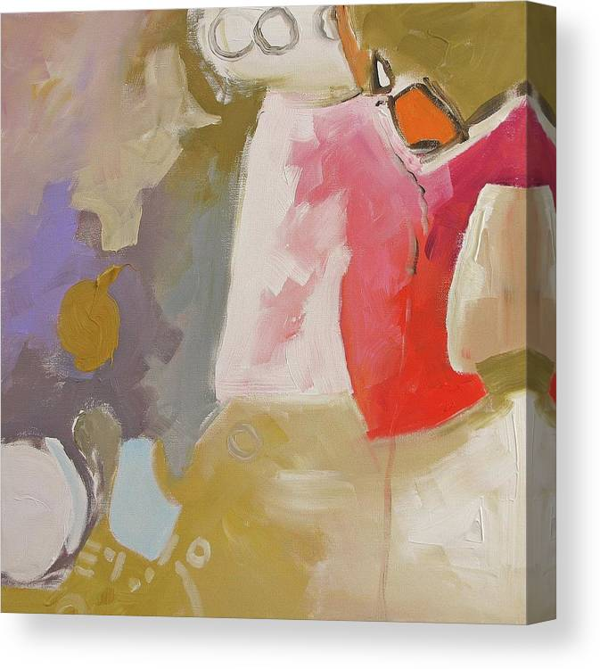 Original Canvas Print featuring the painting Full Disclosure by Linda Monfort