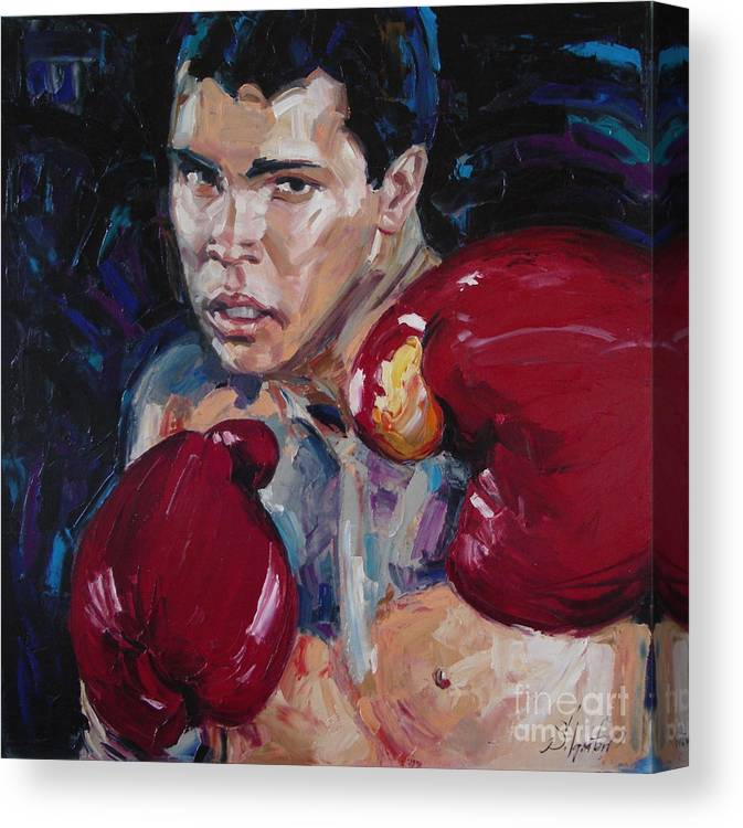 Figurative Canvas Print featuring the painting Great Ali by Sergey Ignatenko