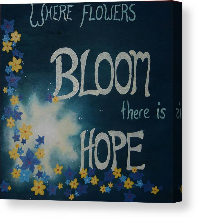 Flowers Canvas Print featuring the painting Hope Blossoms by Amanda Clark