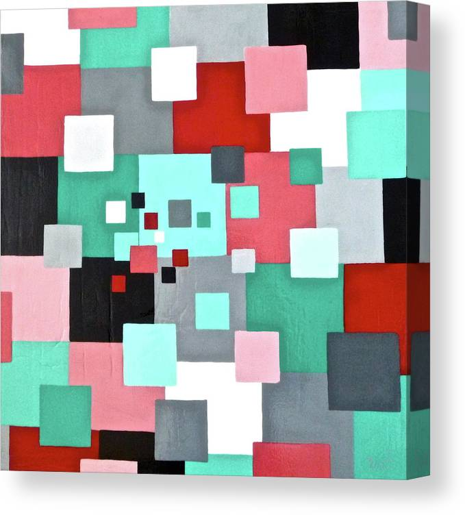 Canvas Print featuring the painting Information Processing by Tammy Watt