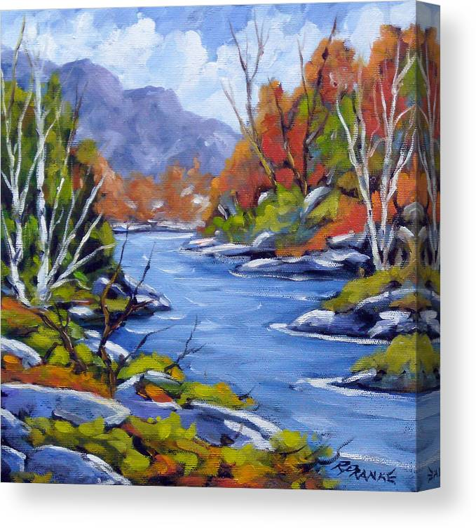 Art Canvas Print featuring the painting Inland Water by Richard T Pranke