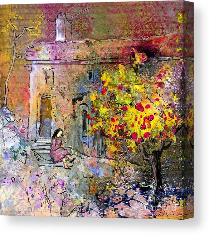 Landscape Painting Canvas Print featuring the painting La Provence 13 by Miki De Goodaboom