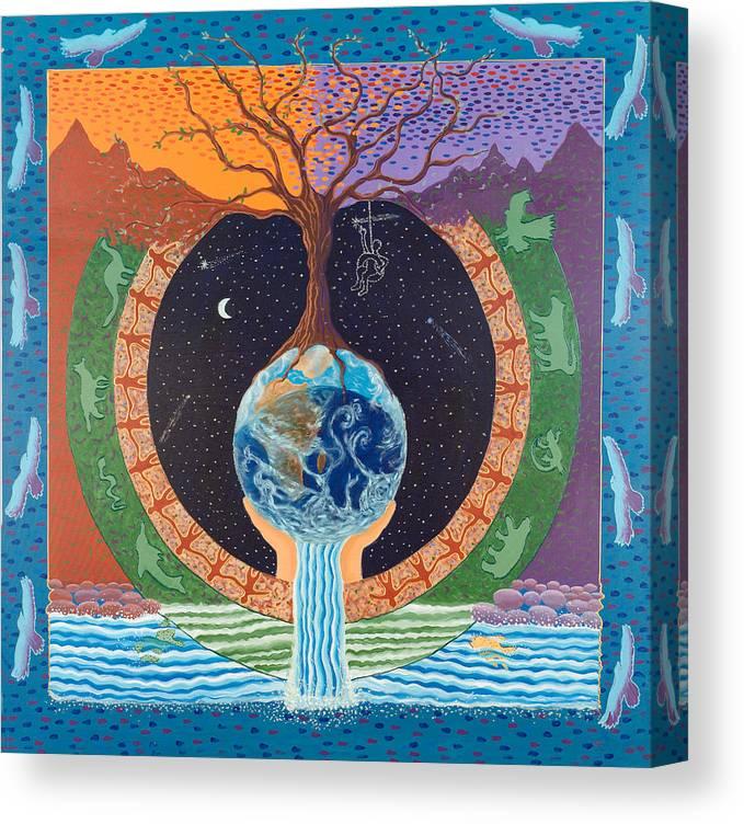 Mandala Canvas Print featuring the painting Legacy Mandala by Leti C Stiles