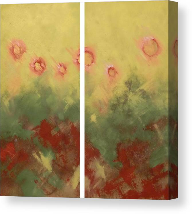 Flowers Canvas Print featuring the painting Les Fleurs by Gousalya Siva