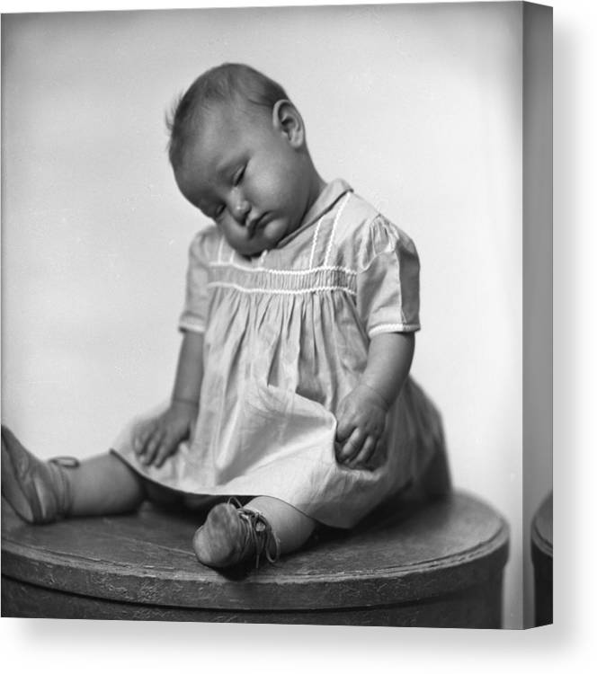 Baby Canvas Print featuring the photograph Nap Time Is Now by Seely Studio