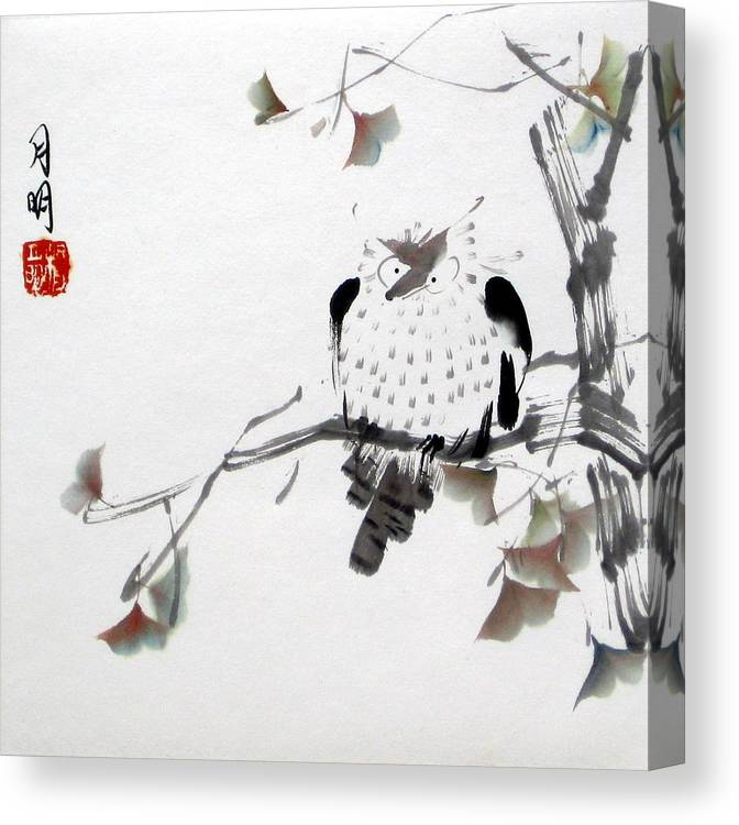 Chinese Painting Canvas Print featuring the painting Night Hunter by Ming Yeung