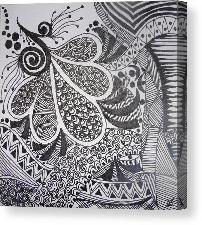 Pen Painting 6 Canvas Print