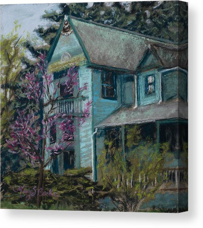 America Canvas Print featuring the painting Springtime In Old Town by Mary Benke
