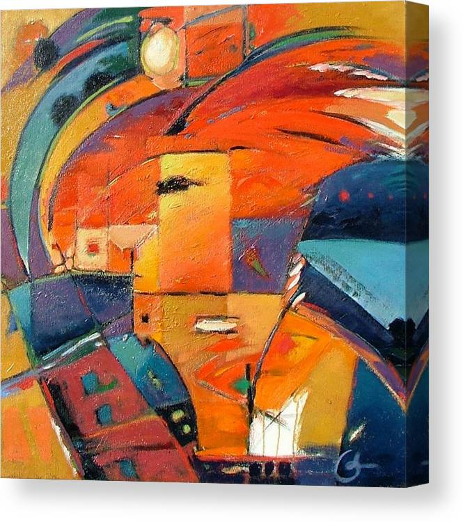 Aabstract Painting Canvas Print featuring the painting Swaying by Gary Coleman