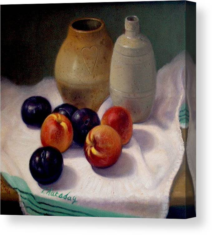Realism Canvas Print featuring the painting Thursday by Donelli DiMaria