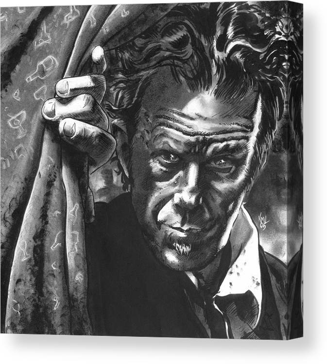 Musicians Canvas Print featuring the mixed media Tom Waits by Ken Meyer jr