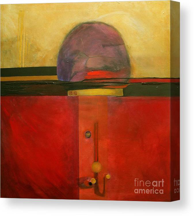 Abstract Canvas Print featuring the painting Tops by Marlene Burns