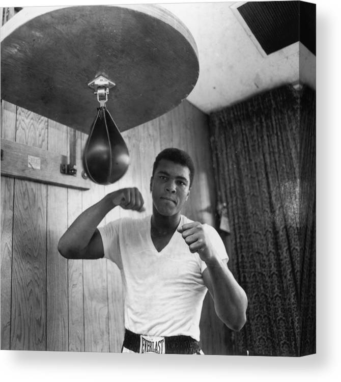 People Canvas Print featuring the photograph Ali In Training by Harry Benson
