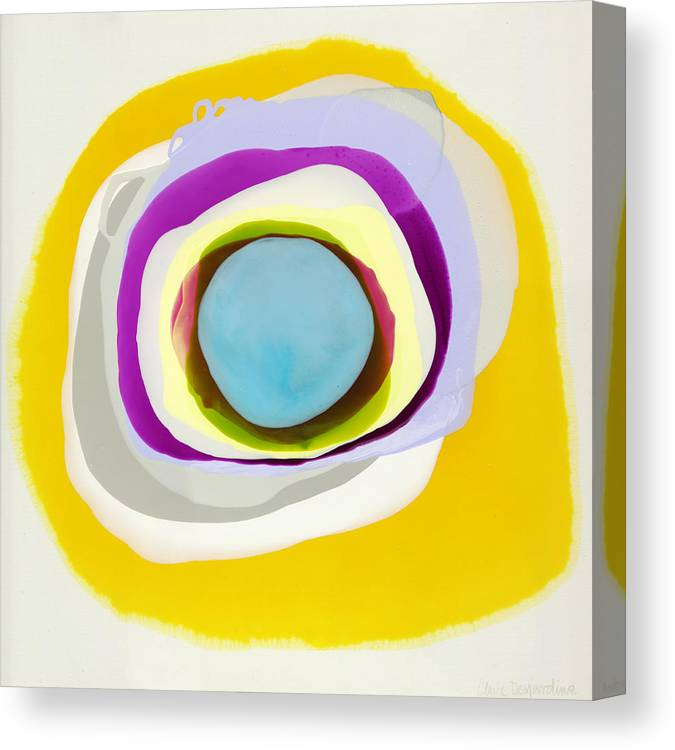Abstract Canvas Print featuring the photograph Tranquil by Claire Desjardins