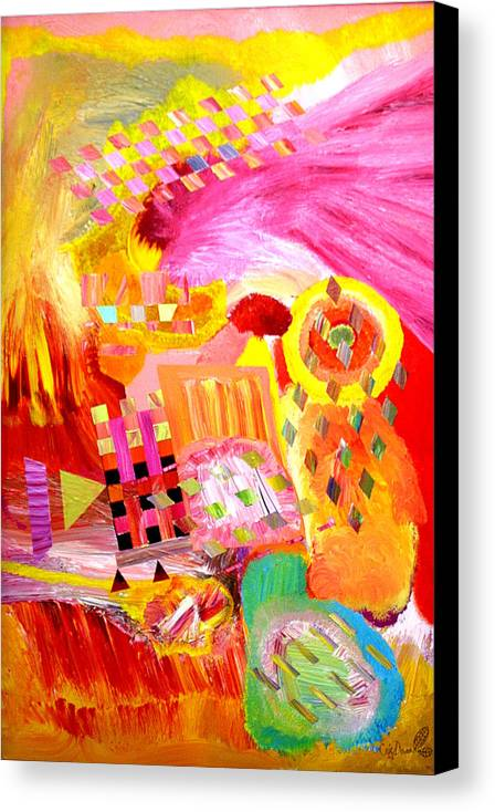 Acrylic Canvas Print featuring the painting Fire In My Heart by Eric Devan