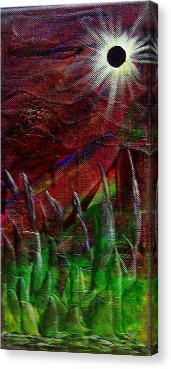 Abstract Canvas Print featuring the painting Eclpise II by Tony Rodriguez