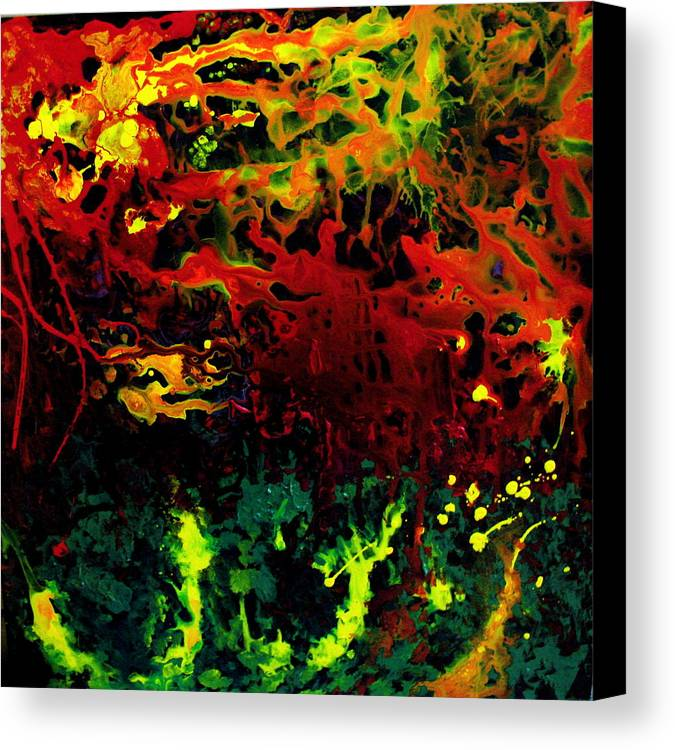Abstract Canvas Print featuring the painting Stella by Jess Thorsen