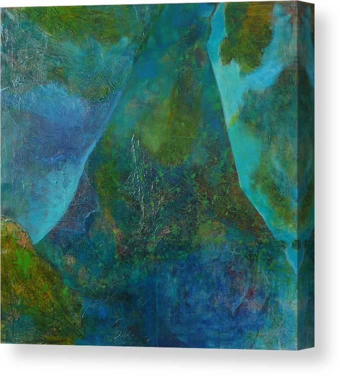 Under Sea Landscape Canvas Print featuring the print Blue .9. by Meltem Quinlan