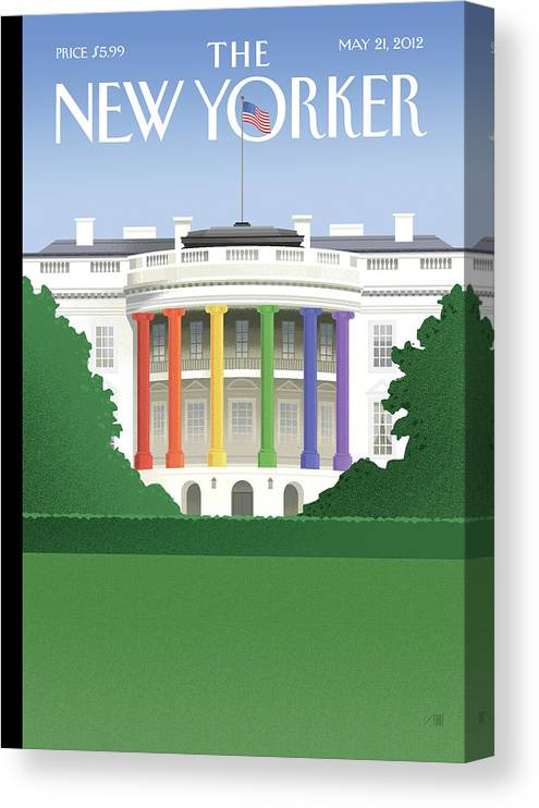 President Canvas Print featuring the painting Spectrum of Light by Bob Staake