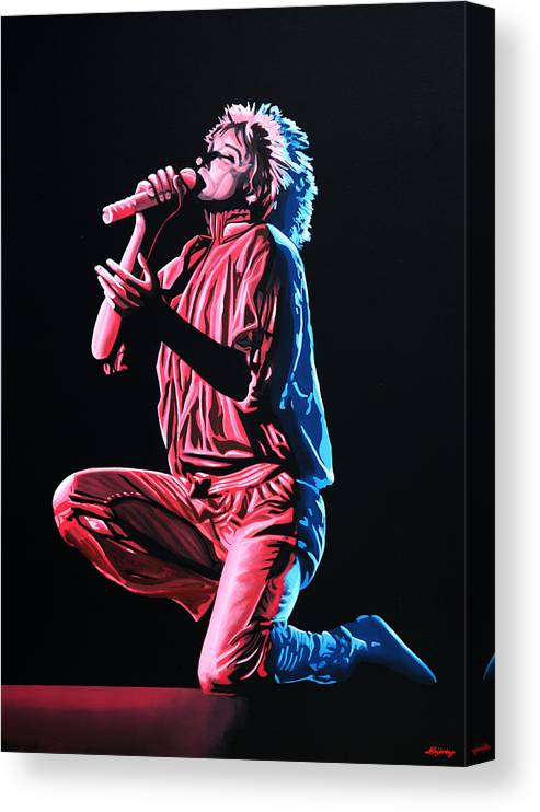 Rod Stewart Canvas Print featuring the painting Rod Stewart by Paul Meijering